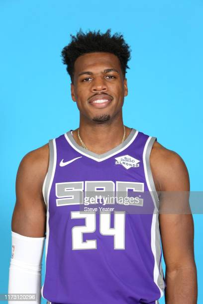 Buddy Hield of the Sacramento Kings poses for a head shot during media day on September 27, 2019 at the Golden 1 Center & Practice Facility in...