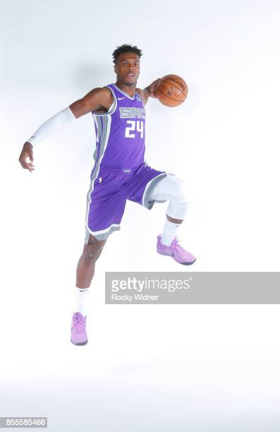 Buddy Hield of the Sacramento Kings poses for a photo on media day September 25 2017 at the Golden 1 Center in Sacramento California NOTE TO USER...