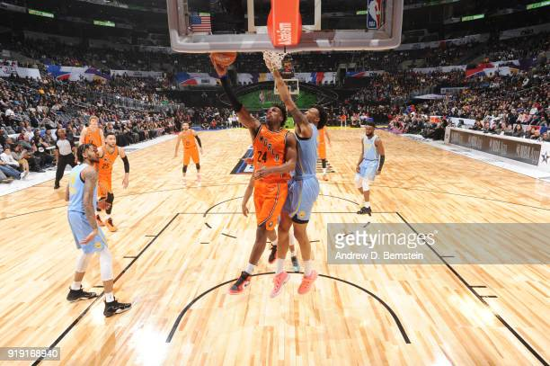 Buddy Hield of the World Team shoots the ball against the USA team during  the Mountain. 2018 Mountain Dew Kickstart Rising Stars Game 2aa755364