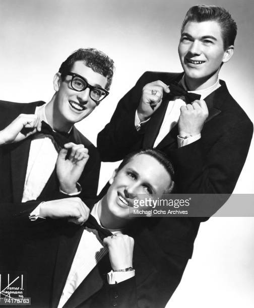 Buddy Holly and The Crickets pose for a portrait circa 1957 in New York