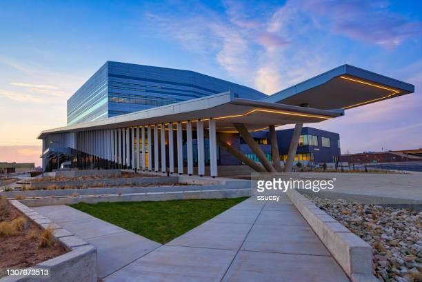 バディ・ホリー舞台芸術科学ホール、ラボック、テキサス州、夕方の東標高 - ルボック ストックフォトと画像