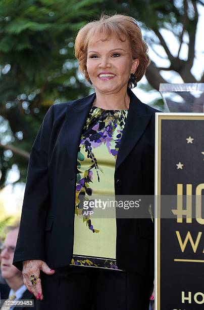 Buddy Holly's wife Maria Elena Holly attends the Buddy Holly Hollywood Walk Of Fame Induction Ceremony in Hollywood California September 7 2011 AFP...