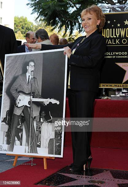 Buddy Holly's wife Maria Elena Holly attends the Buddy Holly Hollywood Walk Of Fame Induction Ceremony in Hollywood California on September 7 2011...