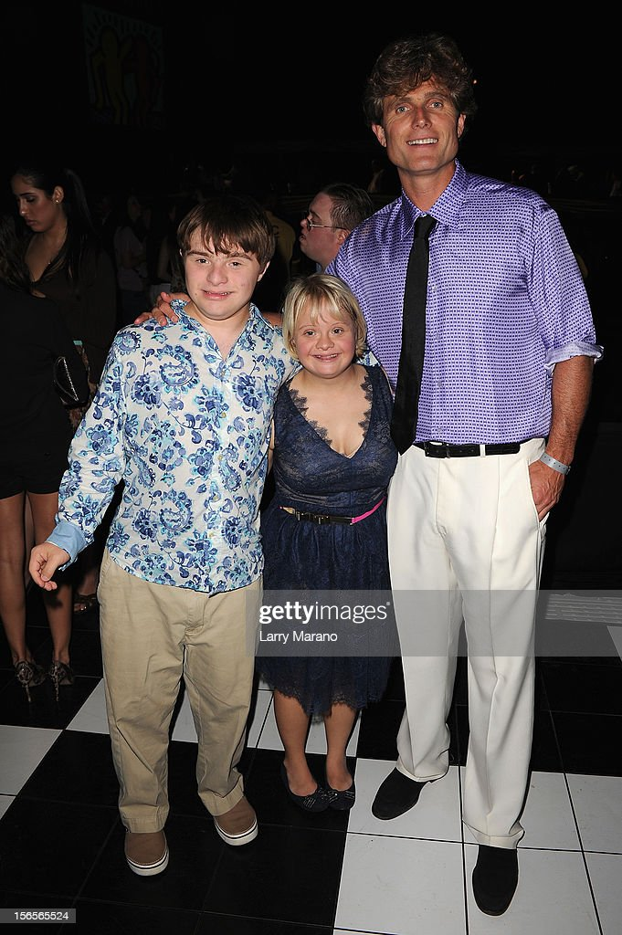 Buddy Lauren Potter and Athony K. Shriver attend the Best Buddies Bash Featuring Far East Movement and SkyBlu of LMFAO at Marlins Park on November 16, 2012 in Miami, Florida.