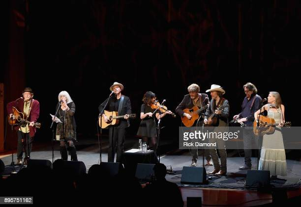 Buddy Miller Emmylou Harris Jason Isbell Amanda Shires Mac McAnally David Rawlings Jerry Douglas and Gillian Welch perform onstage at Country Music...