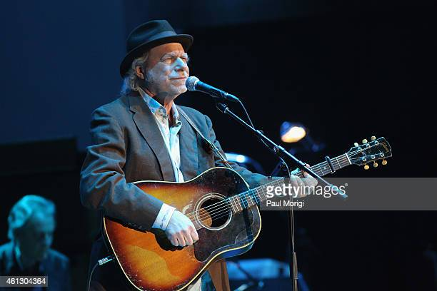 Buddy Miller performs on stage during The Life Songs of Emmylou Harris An All Star Concert Celebration at DAR Constitution Hall on January 10 2015 in...
