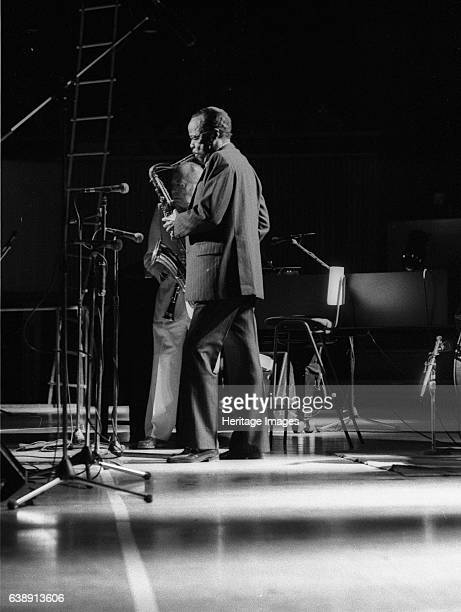 Buddy Tate and Woody Herman, Capital Jazz, Royal Festival Hall, London, July 1985. Artist Brian O'Connor.