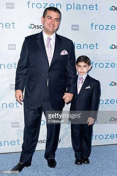 """Buddy Valastro and son Buddy Valastro Jr. Attend the """"Frozen Planet"""" premiere at Alice Tully Hall, Lincoln Center on March 8, 2012 in New York City."""