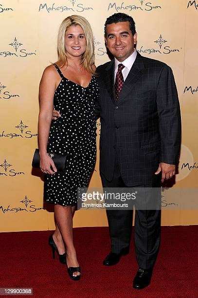 Buddy Valastro of Cake Boss and Lisa Valastro attend the Mohegan Sun's 15th Anniversary Celebration at Mohegan Sun on October 21 2011 in Uncasville...