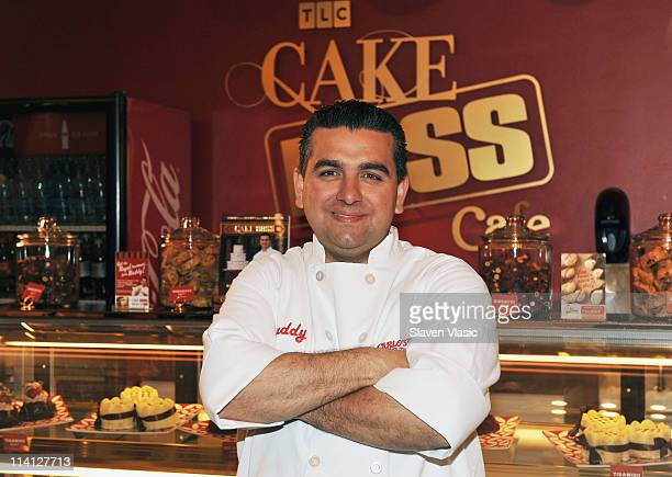 Buddy Valastro the 'Cake Boss' attends the grand opening of The Cake Boss Cafe at the Discovery Times Square Exposition Center on May 12 2011 in New...