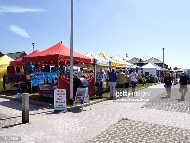 Bude Farmer and Craft Market by the canal every Friday Cornwall UK