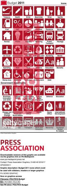 Budget 2011 icons which could be used with sidebars headers or larger graphics