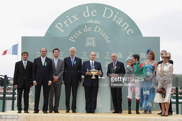 Budget minister Eric Woerth , Edouard de Rothschild, Agriculture and Fish minister Michel Barnier, SAS Prince Karim Aga Khan IV the hereditary...