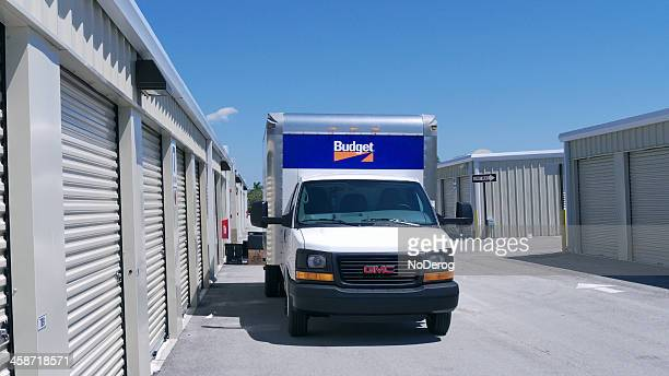 budget rental truck - self storage stock pictures, royalty-free photos & images