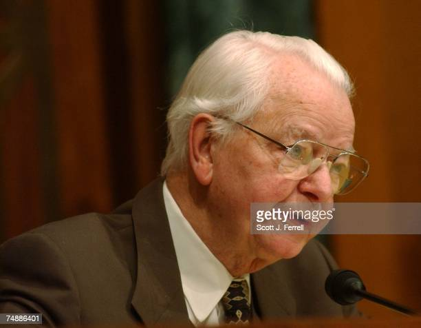 BUDGETRanking Democrat Robert C Byrd DWVa during the Senate Appropriations Homeland Security Subcommittee hearing on the administration's fiscal 2005...