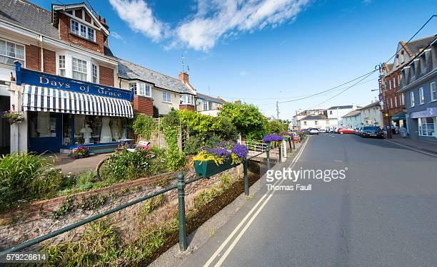 Budleigh Salterton high street in Devon