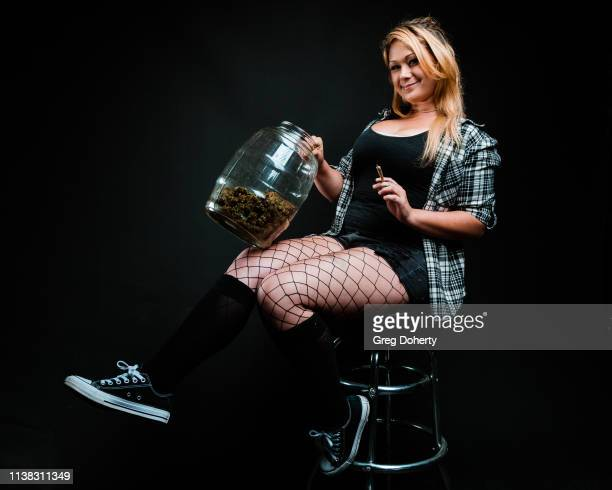 Budtender CJ Raye attends the Welcome to Cannacity 'She's Smokin' Event on April 20 2019 in Los Angeles California