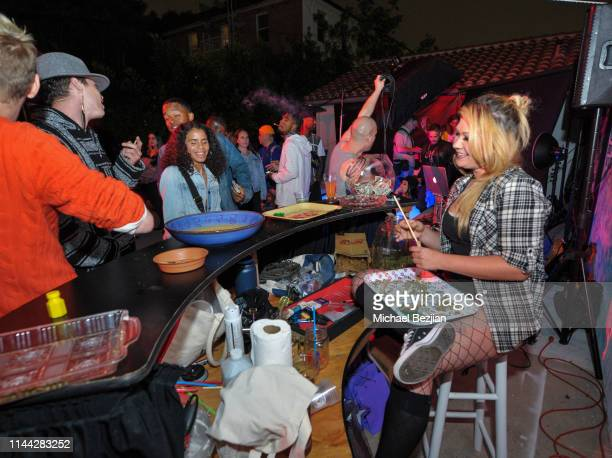 Budtender CJ Raye attends Welcome to Cannacity 'She's Smokin' Event on April 20 2019 in Los Angeles California