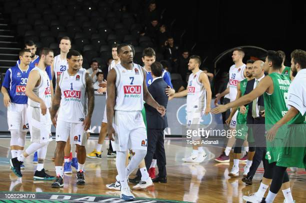 Buducnost Voli Podgorica during the 2018/2019 Turkish Airlines EuroLeague Regular Season Round 2 game between Darussafaka Tekfen Istanbul and...