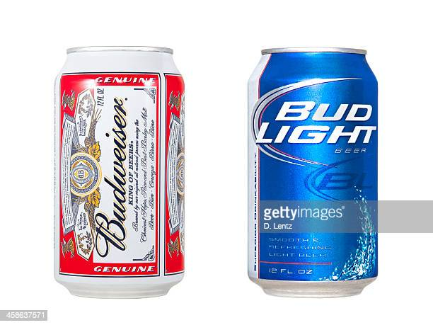 budweiser and bud light - bud light stock pictures, royalty-free photos & images
