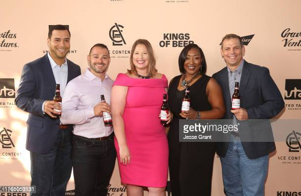 "Budweiser Brewmasters Jeff Jones, Eric Carteciano, Summer Anderson, Natalie Johnson and Tim Seitz attend the World Premiere of ""KINGS OF BEER""..."