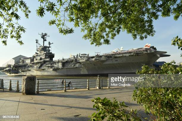 Budweiser Freedom Reserve Red Lager proudly sponsors Fleet Week at the Intrepid on May 25 2018 in New York City