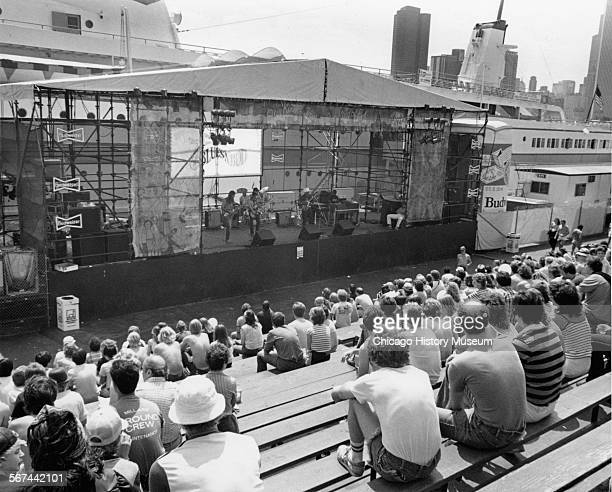 Budweiser stage at Chicago Fest south side of Navy Pier Chicago Illinois August 13 1983