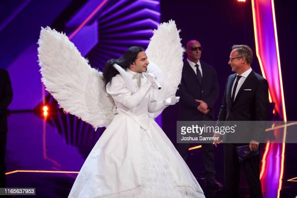 Buelent Ceylan and Matthias Opdenhoevel at the The Masked Singer finals at Coloneum on August 01 2019 in Cologne Germany