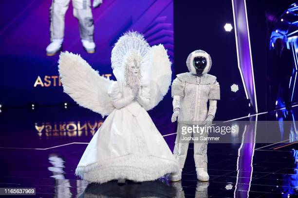 Buelent Ceylan and Max Mutzke at the The Masked Singer finals at Coloneum on August 01 2019 in Cologne Germany