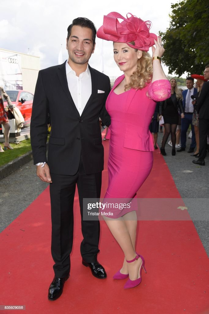 Buelent Sharif and Sandra Quadflieg during the Audi Ascot Race Day (Renntag) 2017 on August 20, 2017 in Hanover, Germany.