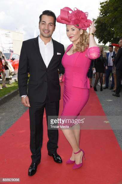 Buelent Sharif and Sandra Quadflieg during the Audi Ascot Race Day 2017 on August 20 2017 in Hanover Germany
