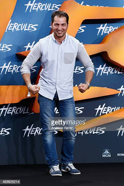 Buelent Sharif attends the Europe premiere of Paramount Pictures 'Hercules' at CineStar on August 21, 2014 in Berlin, Germany.