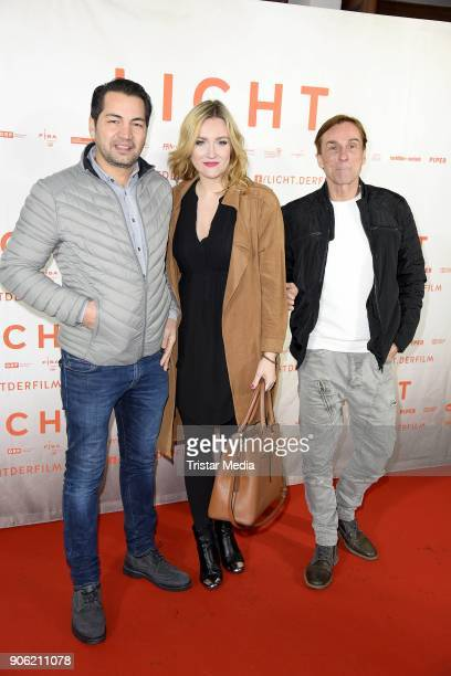 Buelent Sharif Denise Geppert Andre Hennicke attends the 'Licht' Premiere at Delphi Filmpalast on January 17 2018 in Berlin Germany