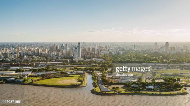 buenos aires aerial view - argentina stock pictures, royalty-free photos & images