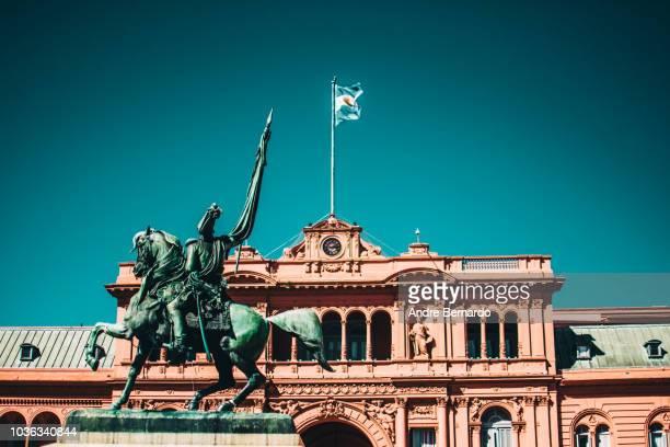 buenos aires, argentina - casa rosada presidential palace - buenos aires stockfoto's en -beelden