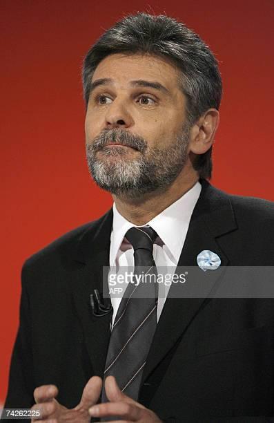 Buenos Aires, ARGENTINA: El ministro de Educacion, Daniel Filmus, candidato a Jefe de Gobierno de la Ciudad de Buenos Aires por el partido Frente...