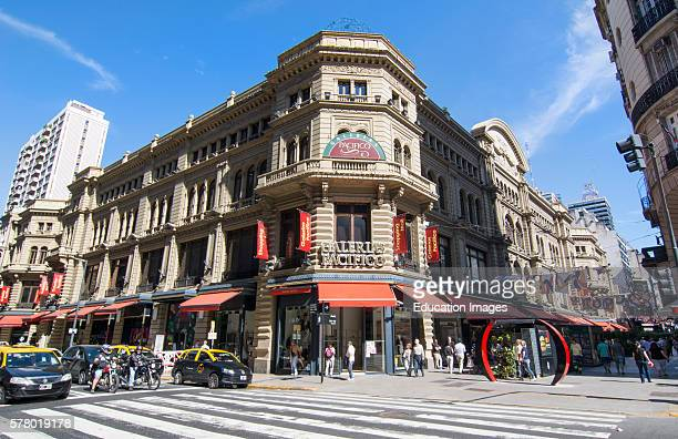 Buenos Aires Argentina Gallerias Pacifico famous Mall for shopping and dining in city center entrance and traffic outside