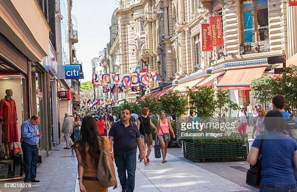 Buenos Aires Argentina Gallerias Pacifico famous Mall for shopping and dining in city center walking shoppers