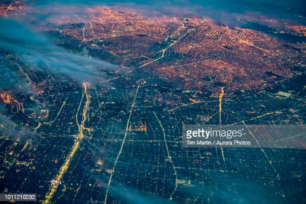 buenos aires at night, argentina - grid pattern stock pictures, royalty-free photos & images
