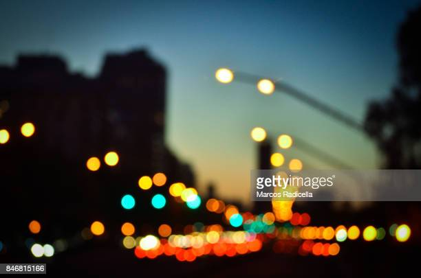 buenos aires by night - radicella stock pictures, royalty-free photos & images