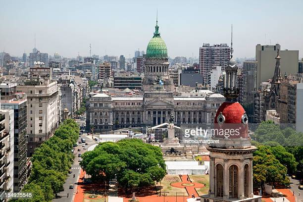 buenos aires cityscape - local landmark stock pictures, royalty-free photos & images