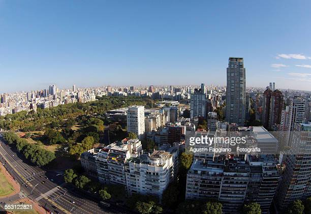 buenos aires from the air! - palermo buenos aires stock photos and pictures