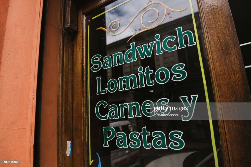 Buenos Aires: Sandwich, Lomitos, Carnes y Pastas : Stock Photo