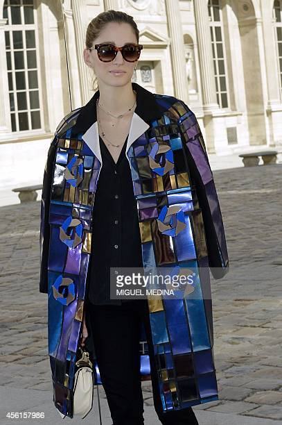 Buenos Airesborn art director founder of UnderOurSky Sofia Sanchez Barrenechea poses during a photocall prior to the Christian Dior 2015...