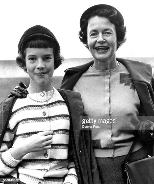 Buff supporters are mother and daughter two some Mrs Porter Nelson and Jill They join Nelson for the Saturday football trips to Bouldor Credit Denver...
