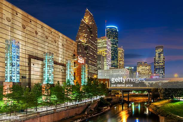 Buffalo Bayou, Houston Skyline, Texas, America