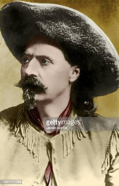 Buffalo Bill *26021846 Cowboy Bison huntsman Scout showman USA Porträt