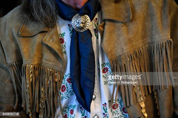 Buffalo Bill impersonator Stanley Beug dressed to the hilt for the 100th anniversary celebrations of the death of Buffalo Bill celebrated at the...