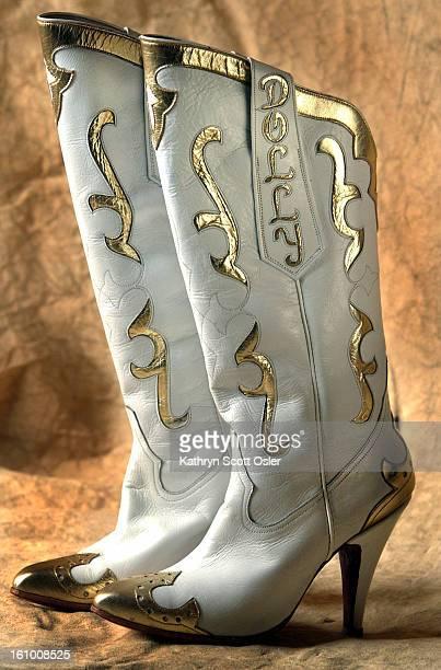 GOLDEN CO OCTOBER 27 2003 Buffalo Bill Museum cowboy boot exhibit Dolly Parton's boots