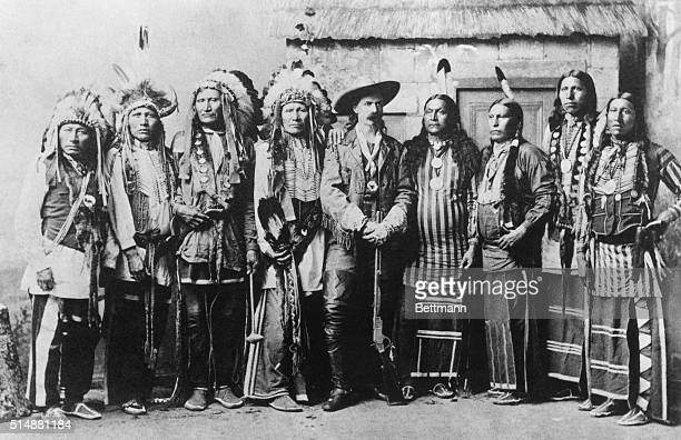 Buffalo Bill with a group of his Indian friends Photograph 1870